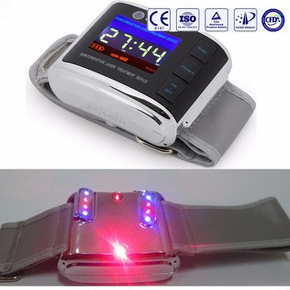 Laser therapy watch diabetes products physical therapy high blood pressure treatment Wrist Laser Therapeutic Apparatus