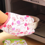 Insulation Anti-Scalding Microwave Oven Kitchen Thickened High Temperature Oven Special Five-Finger Baking Gloves
