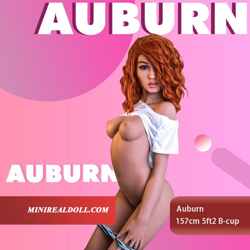 157cm 5ft2 B-cup Sex Doll Auburn