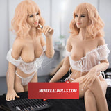 Open Golden-hair Woman  Sex Angel Silicone Doll