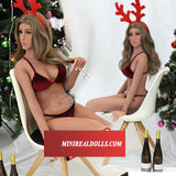 Merry Chirstmas Girl Aimee Silicone Adult Dolls For Male
