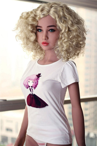 Happiness-maker Ludmila In Golden Hair Nature For Men Toy
