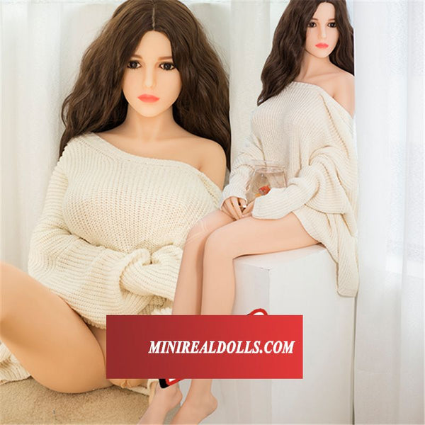 Natrual Skin Curvy Figure Beauty Caroline Silicone Doll For Male Toy