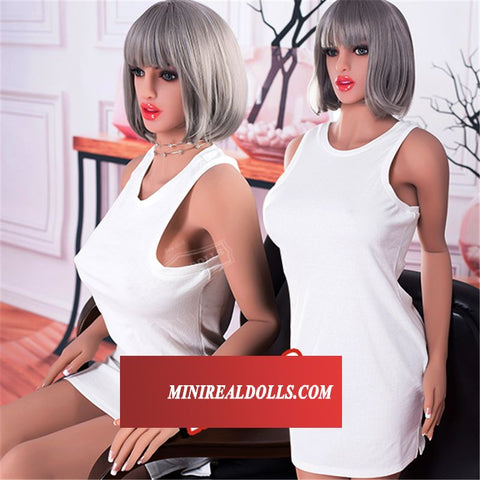 White Dress Entice Beauty Adela For Men Showing Warmth Love Silicone Doll