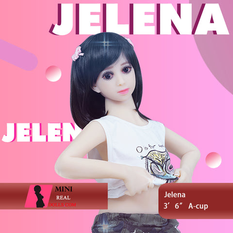 "108cm (3'6"") A-cup Small Sex Doll Jelena Cute Girl"