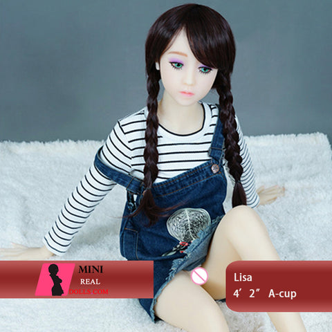 128cm 4ft2 A Cup Doll Small Doll Lisa