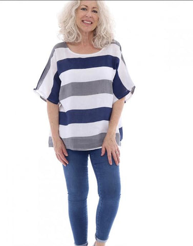 Rigby Striped Linen Top