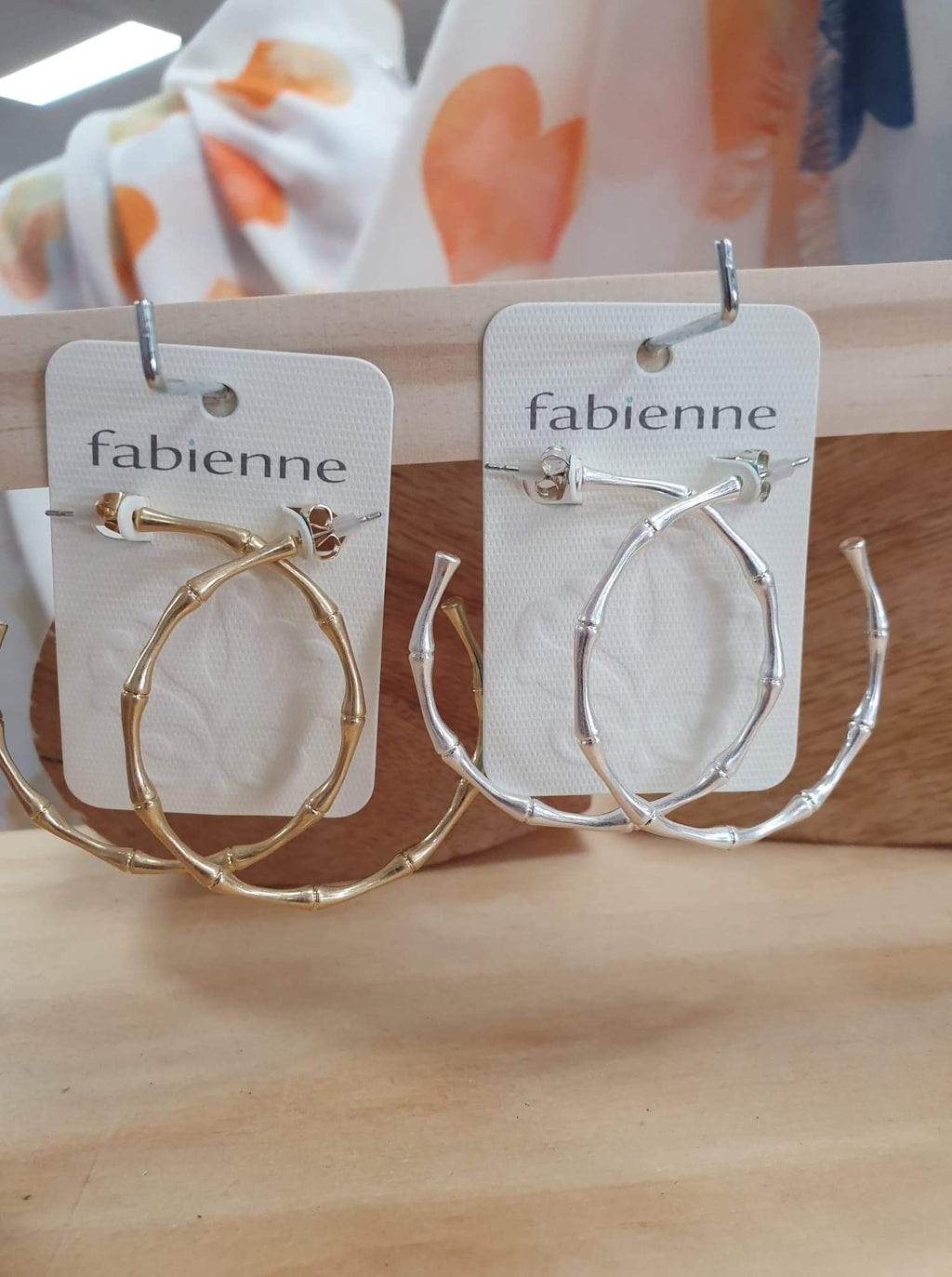 Fabienne Bamboo Look earrings
