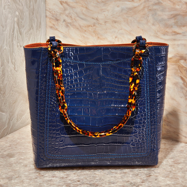 Mini Tote in Blue