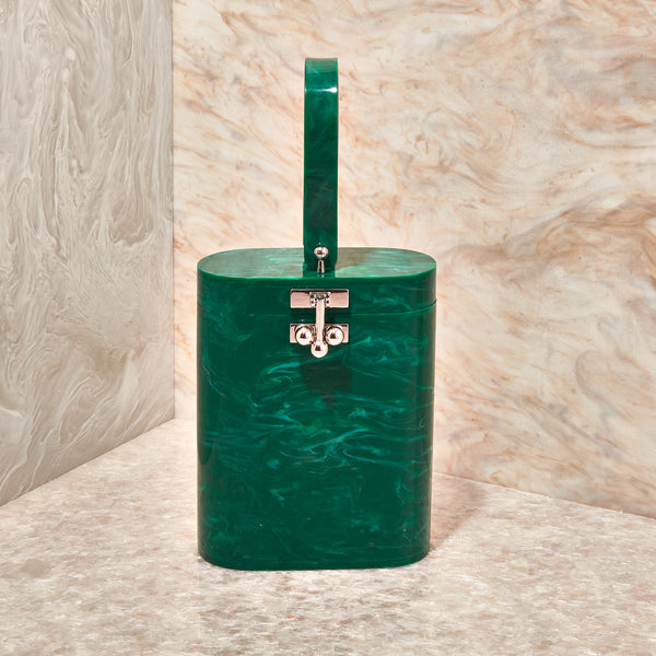 Oval Bag Solid in Malachite