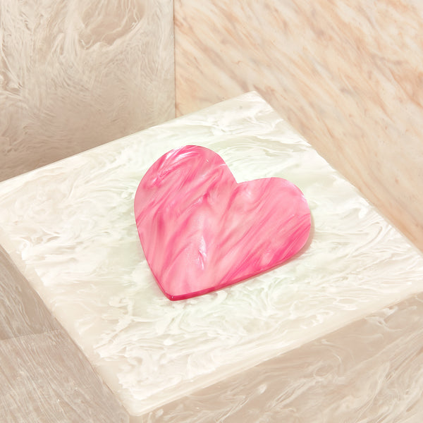 Heart Hair Clip in Candy Pink