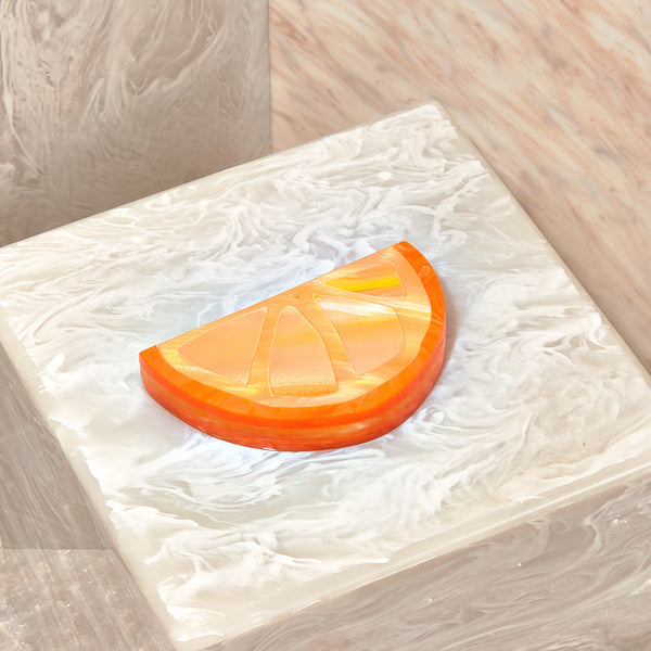 Citrus Incense Holder in Orange Multi