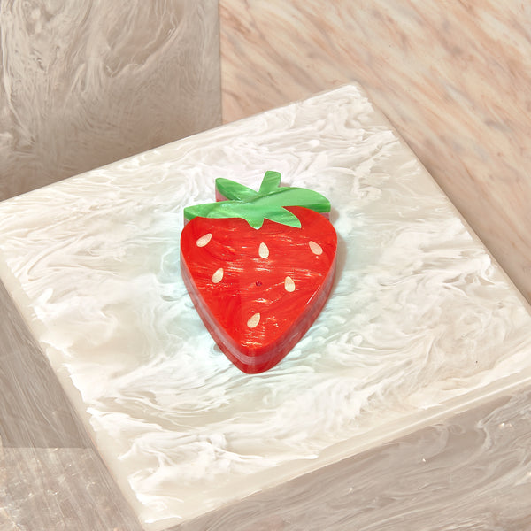Strawberry Incense Holder In Red Multi
