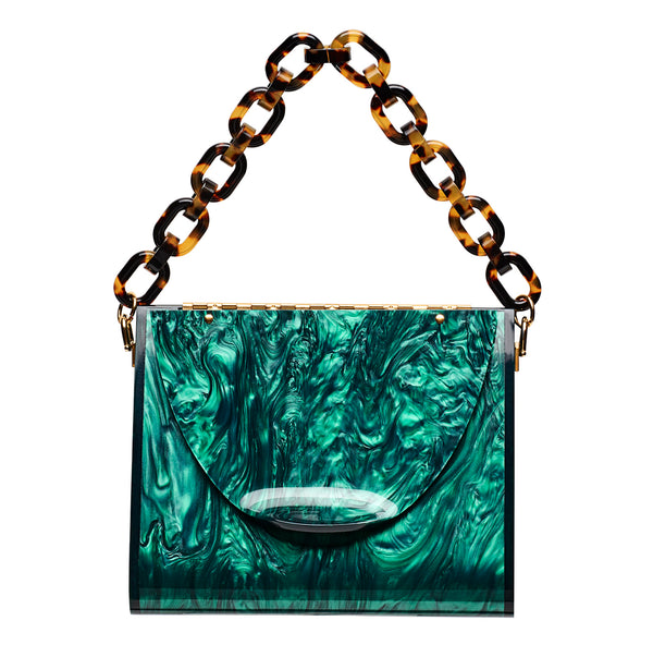 Triangle Bag in Emerald