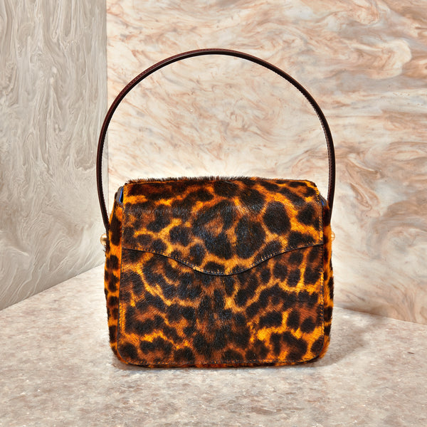 Hot Box Bag in Long Haircalf Leopard