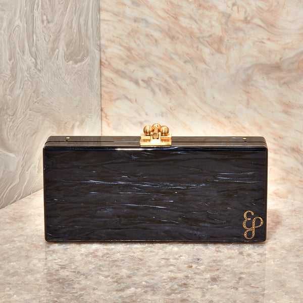 Medium Slim Clutch In Blueberry