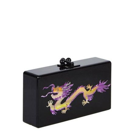 Edie Parker Jean Dragon Obsidian Black Handbag Clutch Feature Image