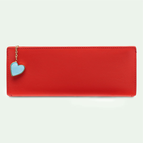 Demi Pouch in Candy Apple Red