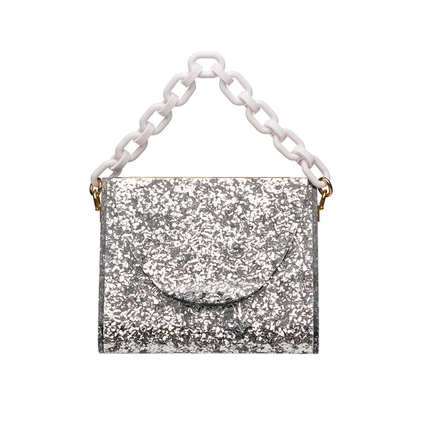 Triangle Bag in Silver Confetti