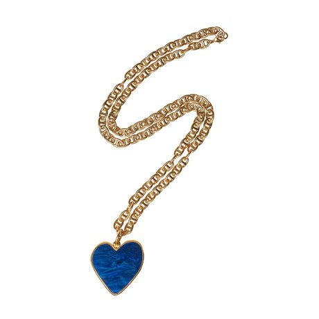 Medium Heart Necklace in Sapphire