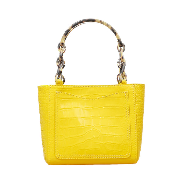 Micro Tote Embossed Croc in Mimosa