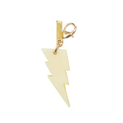Edie Parker Yellow Pearlescent Lightning Handbag Charm Glow Back