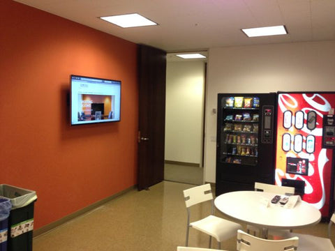 Raven Office Centers and Executive Suites at 388 Market Street in San Francisco | Kitchen and break area with Led TV