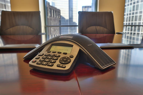 Raven Office Centers and Executive Suites at 388 Market Street in San Francisco | Conference room for rent with a Polycom sound station