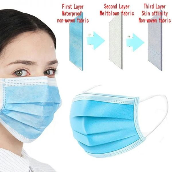 3 ply Disposible face mask 1 BOX X 50 MASK
