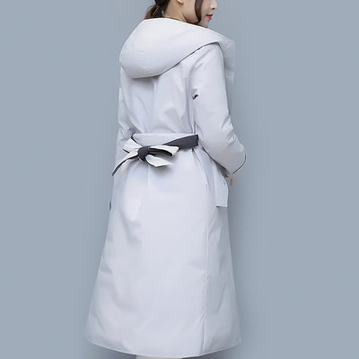 Manteau long blanc