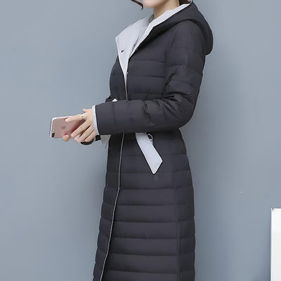Manteau long ceinture