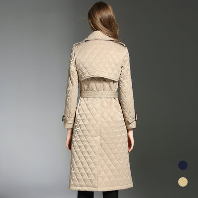 Manteau long à double boutonnage