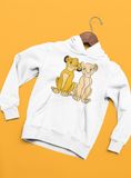 sweat à capuche sweat shirt simba nala le roi lion Walt Disney vêtements
