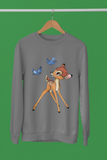 vêtements pull sweat-shirt bambi panpan Walt Disney faon