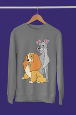 pull sweat-shirt la belle et le clochard Walt Disney