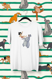t-shirt le livre de la jungle mowgli Baloo studios Walt Disney adulte enfants animaux ours lion