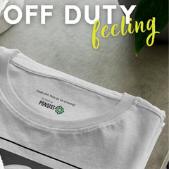 Off Duty feeling is sold at PONSIST Store, apparel that packs a motivational message