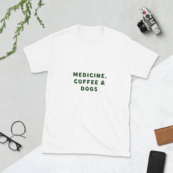Medicine, Dogs & Coffee Tee - Light Editions⎟PONSIST Store