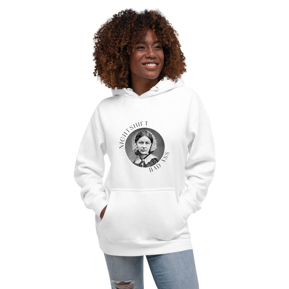 Florence Nightingale Soft Cotton Hoodie - Light Editions⎟PONSIST Store