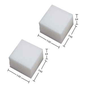 White PolyFoam Pads w/Removable Adhesive