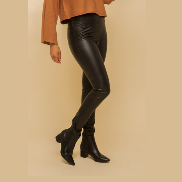 Fleece Faux Leather Leggings