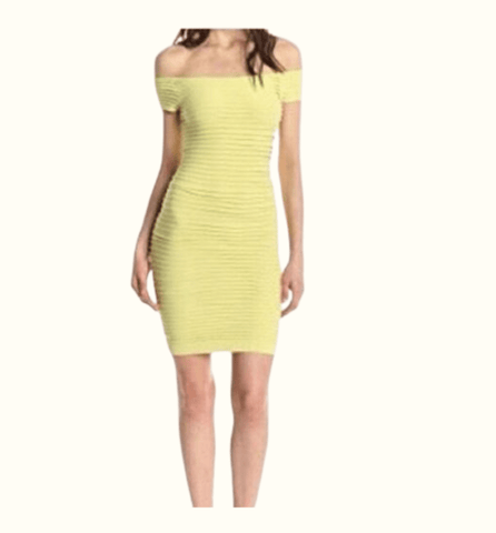 BCBGenration Lime Short Sleeve Bodycon Dress - Highfalutin' Hippy Chick