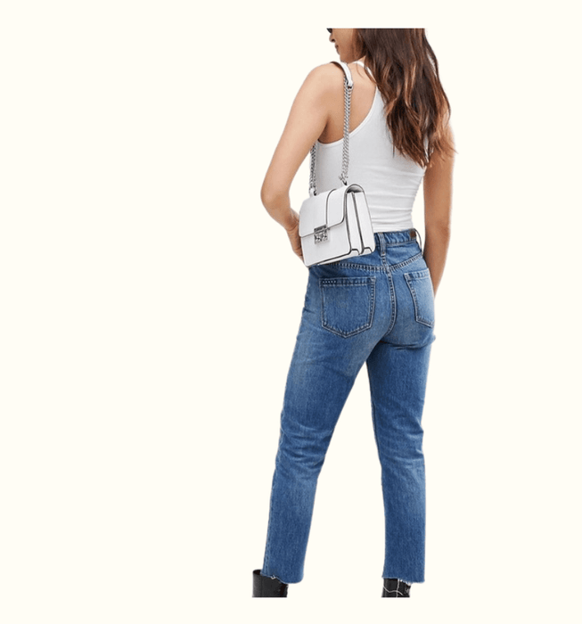 High Rise Cropped Button Fly Jean - Highfalutin' Hippy Chick