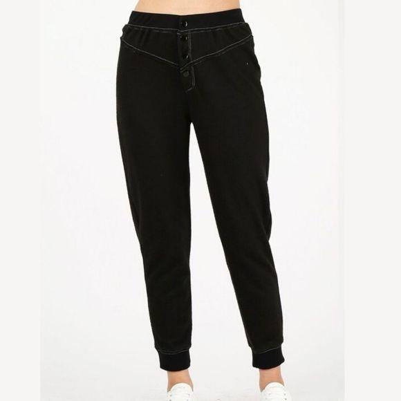 Button Front jogger - Highfalutin' Hippy Chick