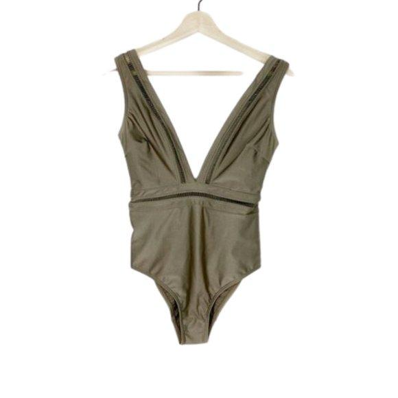 Ted Baker Starza Pointelle Deep V Swimsuit - Highfalutin' Hippy Chick