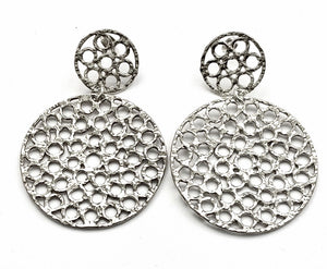 Silver Drop Earrings - OA573