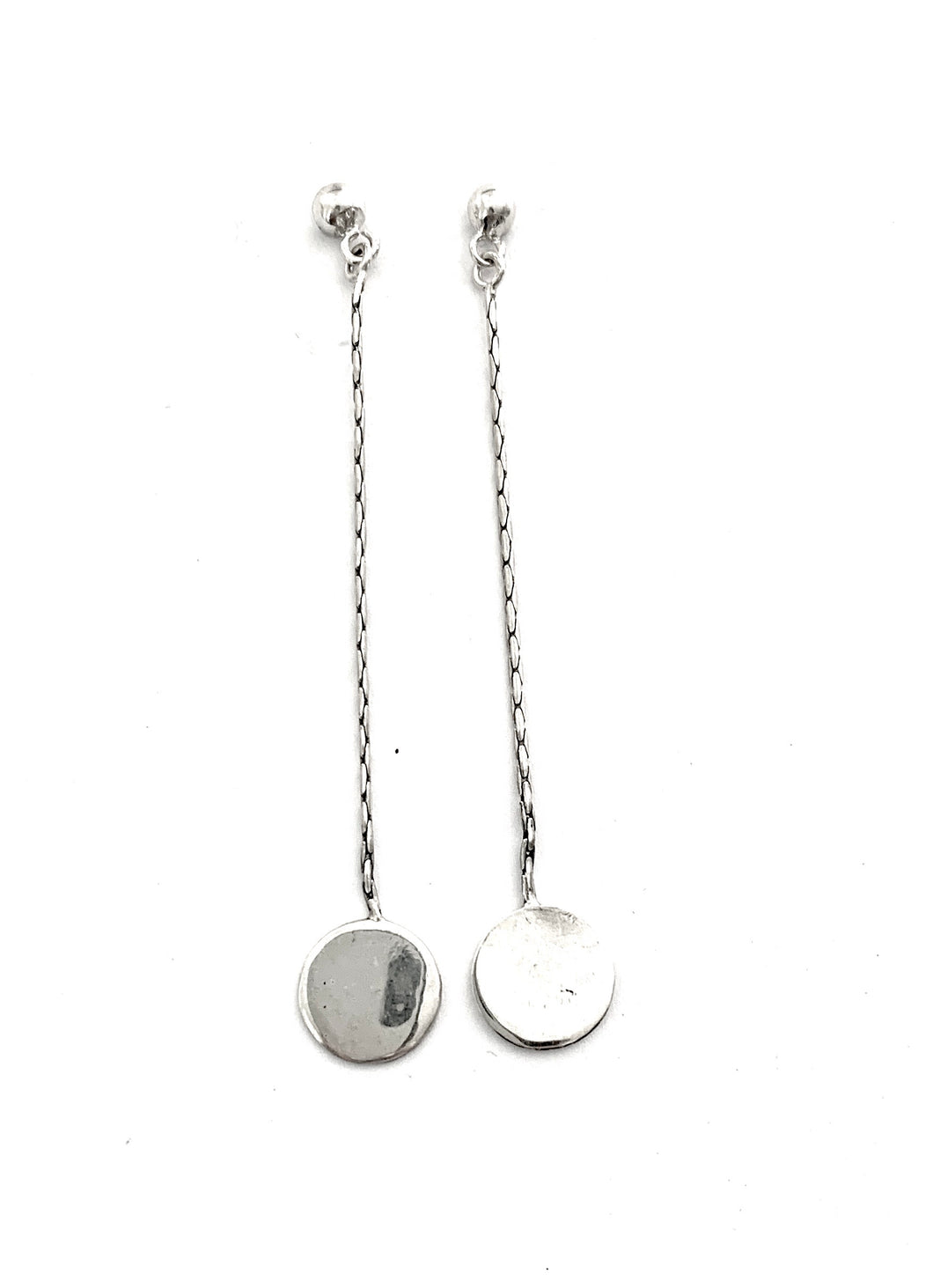 Silver Drop Earrings - FAA278