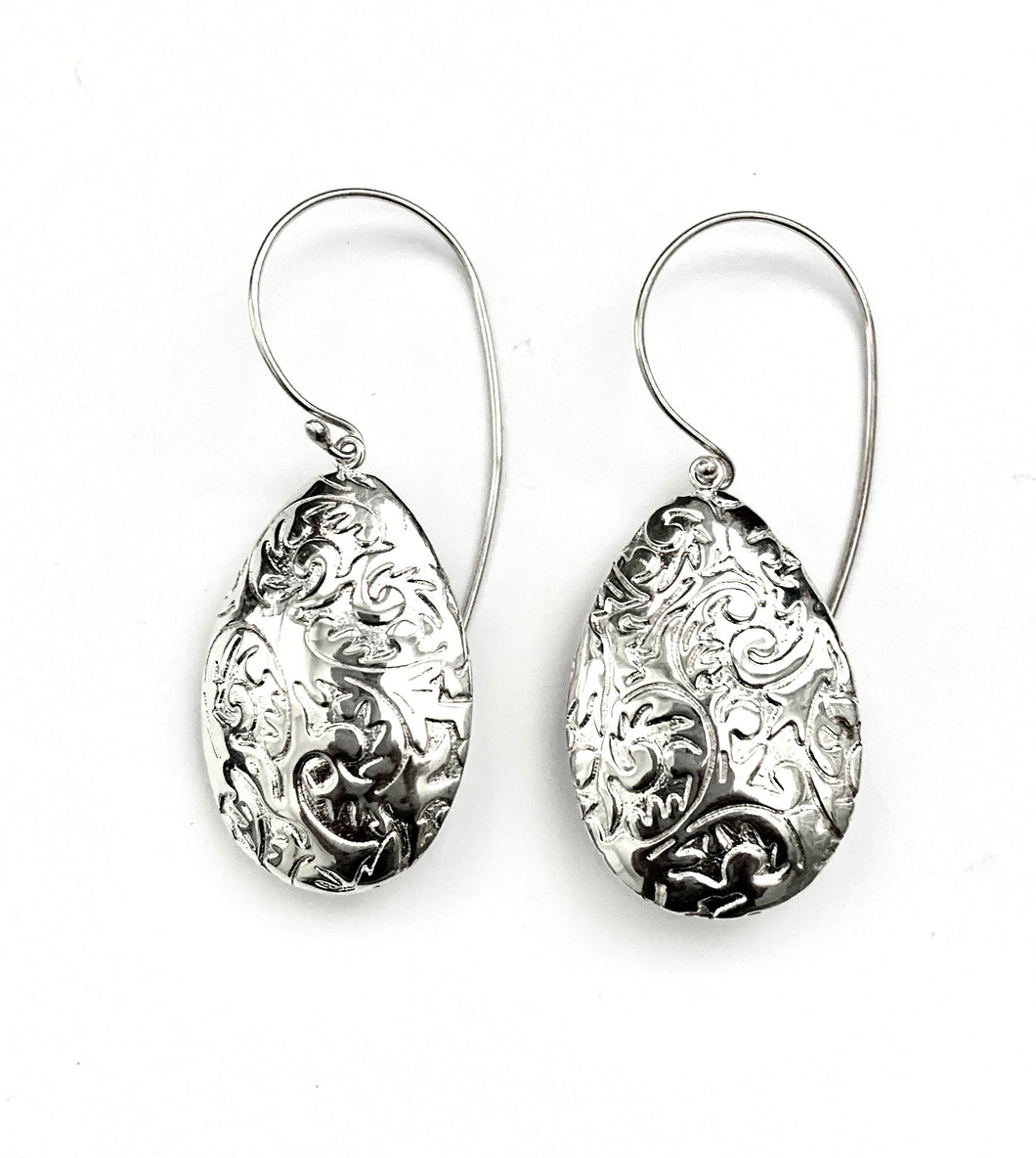 Silver Drop Earrings - A6148