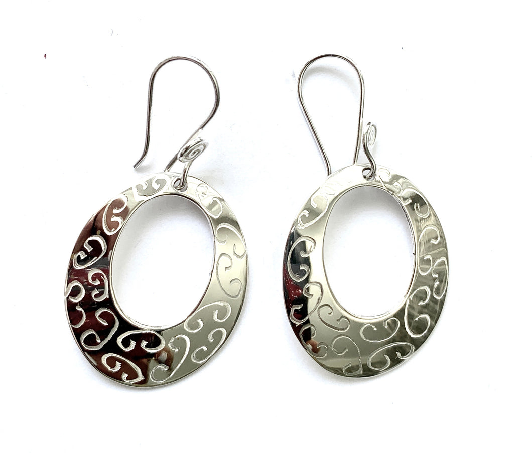 Silver Drop Earrings - PPA220