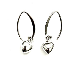 Silver Drop Earrings - PPA434